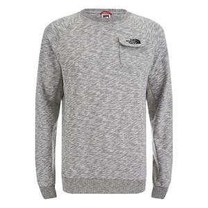 The North Face Men's Long Sleeve Pocket T-Shirt - Medium Grey Heather