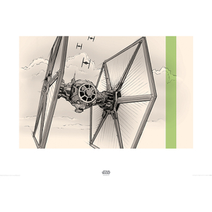 Star Wars: Episode VII - The Force Awakens TIE Fighter - 60 x 80cm Pencil Art Print