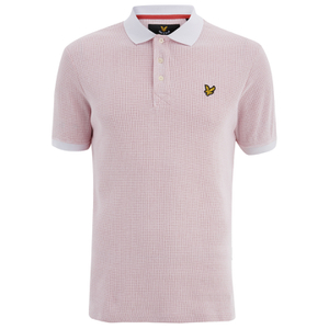 Lyle & Scott Vintage Men's Grid Texture Polo Shirt - White