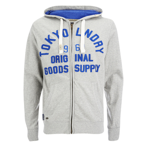 Tokyo Laundry Men's Tomahawk Bay Zip Through Hoody - Light Grey Marl