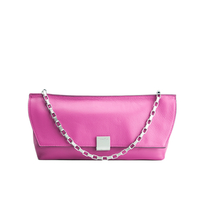 Calvin Klein Women's Kate Pebbled Leather Clutch Bag - Berry