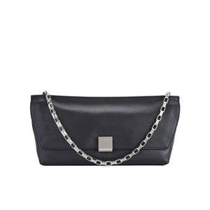 Calvin Klein Women's Kate Pebbled Leather Clutch Bag - Black