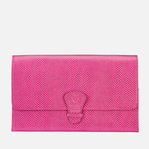 Aspinal of London Women's Classic Travel Wallet - Raspberry