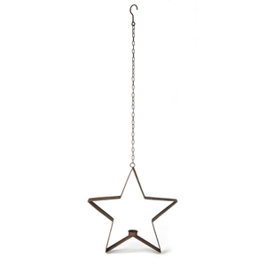 Bark & Blossom Hanging Star Candle Holder
