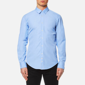 BOSS Orange Men's Cliffe Long Sleeve Shirt - Open Blue