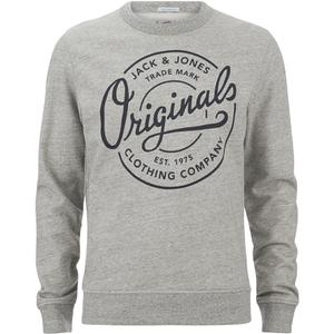 Jack & Jones Men's Originals Tones Sweatshirt - Light Grey Melange