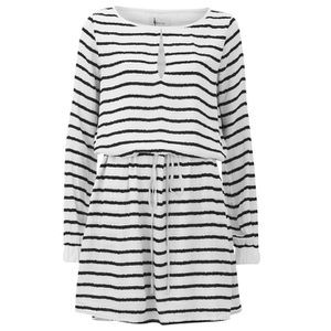 Gestuz Women's Deidre Belted Waist Shift Dress - White/Black