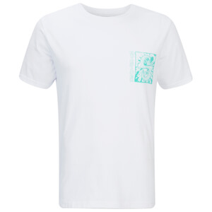 Quiksilver Men's White Light Back Print T-Shirt - White