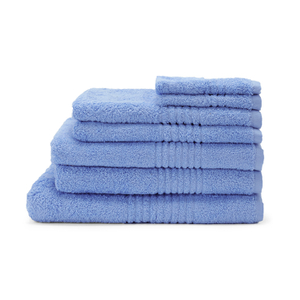 Highams 100% Cotton 7 Piece Towel Bale (550gsm) - Blue