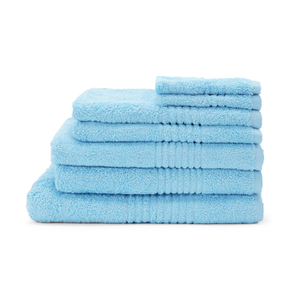 Highams 100% Cotton 7 Piece Towel Bale (550gsm) - Sky