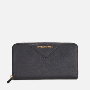 Karl Lagerfeld Women's K/Klassik Zip Around Purse - Black