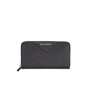 Karl Lagerfeld Women's K/Klassik Zip Around Purse - Black