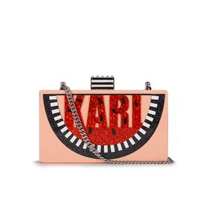 Karl Lagerfeld Women's Minaudiere Watermelon Clutch Bag - Pink