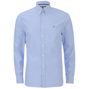 Tommy Hilfiger Men's Devan Poplin Long Sleeved Shirt - Blue