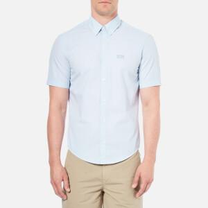 BOSS Green Men's C-Busterino Short Sleeved Shirt - Sky
