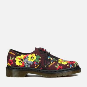 Dr. Martens Women's Lester Flat Shoes - Cherry Red Hawaiian