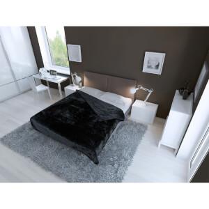 Plaid Luxueux en Fausse Fourrure Dreamscene - Noir