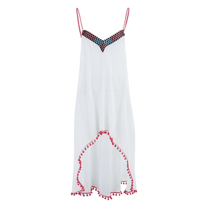 MINKPINK Women's Great White Embellished Peak Hem Dress - White