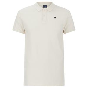 Scotch & Soda Men's Garment Dyed Pique Polo Shirt - Bone White