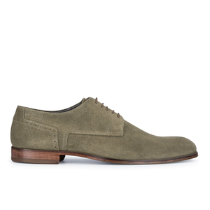 HUGO Men's C-Moder Suede Derby Shoes - Dark Beige