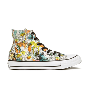Converse Women's Chuck Taylor All Star Daisy Print Hi-Top Trainers - Black/Rebel Teal/White