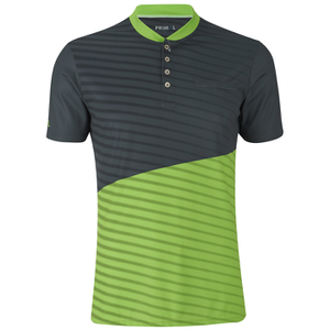 Primal Boundary Short Sleeve Henley - Black/Green