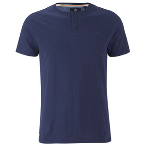 Threadbare Men's Oliver Grandad T-Shirt - Navy