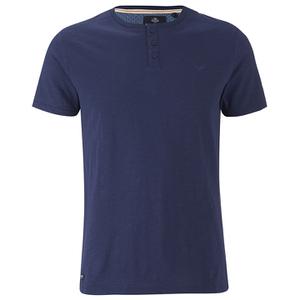 Threadbare Men's Oliver Grandad T-Shirt - Navy
