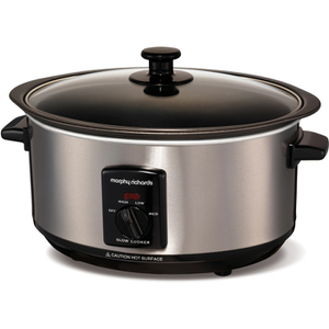 Morphy Richards 48701 Sear & Stew Slow Cooker - Stainless Steel - 3.5L