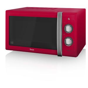 Swan SM22070RN Manual Microwave - Red - 900W