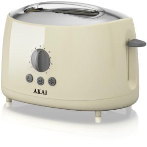 Akai A20001C 2 Slice Cool Touch Toaster - Cream