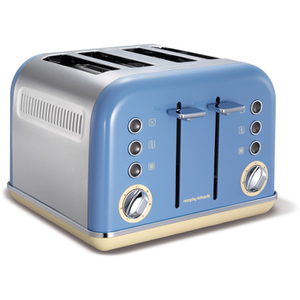 Morphy Richards 242007 Accents 4 Slice Toaster - Blue