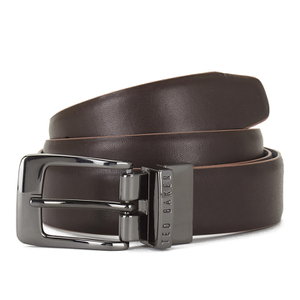 Ted Baker Men's Lizlow Reversible Leather Belt - Chocolate