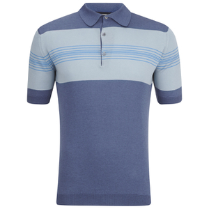 John Smedley Men's Easdale Sea Island Cotton Polo Shirt - Baltic Blue