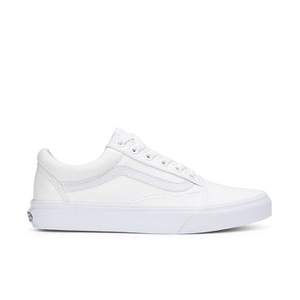 Vans Unisex Old Skool Canvas Trainers - True White
