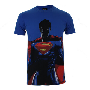 DC Comics Batman v Superman Superman Herren T-Shirt - Blau