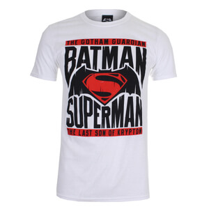 T-Shirt DC Comics Batman v Superman Gotham Guardian - Blanc