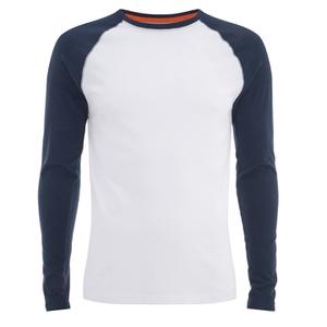 Superdry Men's Orange Label L/S Baseball T-Shirt - Optic
