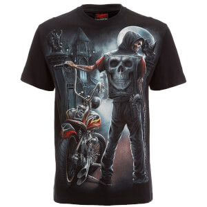 T-Shirt Homme Spiral Night Church -Noir