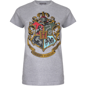 Harry Potter Hogwarts Crest Dames T-Shirt - Grijs