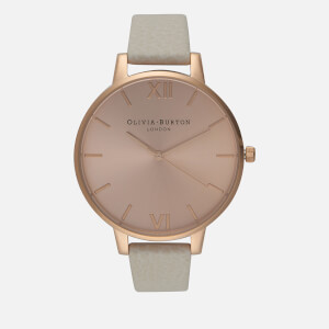 Olivia Burton Women's Big Dial Watch - Mink/Rose Gold