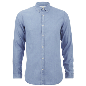 Selected Homme Men's One Nolan Long Sleeve Shirt - Light Blue Denim