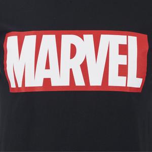Marvel Comics Men's Core Logo T-Shirt - Black: Image 3