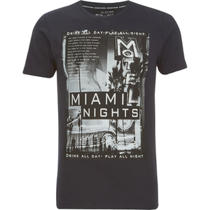 Dissident Men's Miami Nights Graphic Print T-Shirt - Dark Navy