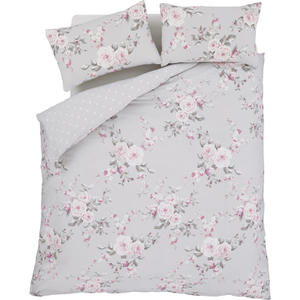 Catherine Lansfield Canterbury Bedding Set - Grey