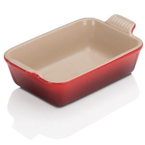Le Creuset Stoneware Small Heritage Rectangular Roasting Dish 19cm - Cerise