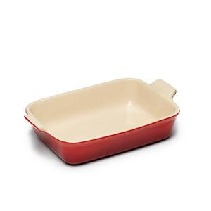 Le Creuset Stoneware Medium Heritage Rectangular Roasting Dish - Cerise