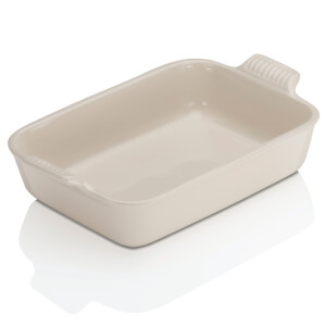 Le Creuset Stoneware Medium Heritage Rectangular Roasting Dish - Almond