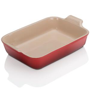 Le Creuset Stoneware Large Heritage Rectangular Roasting Dish - Cerise