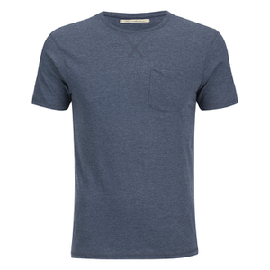 Brave Soul Men's Arkham Pocket T-Shirt - Navy Marl